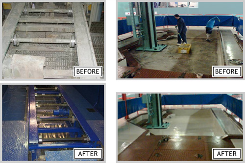 PSI can provide painting and cleaning services to refurbish and maintain your equipment in great working condition.